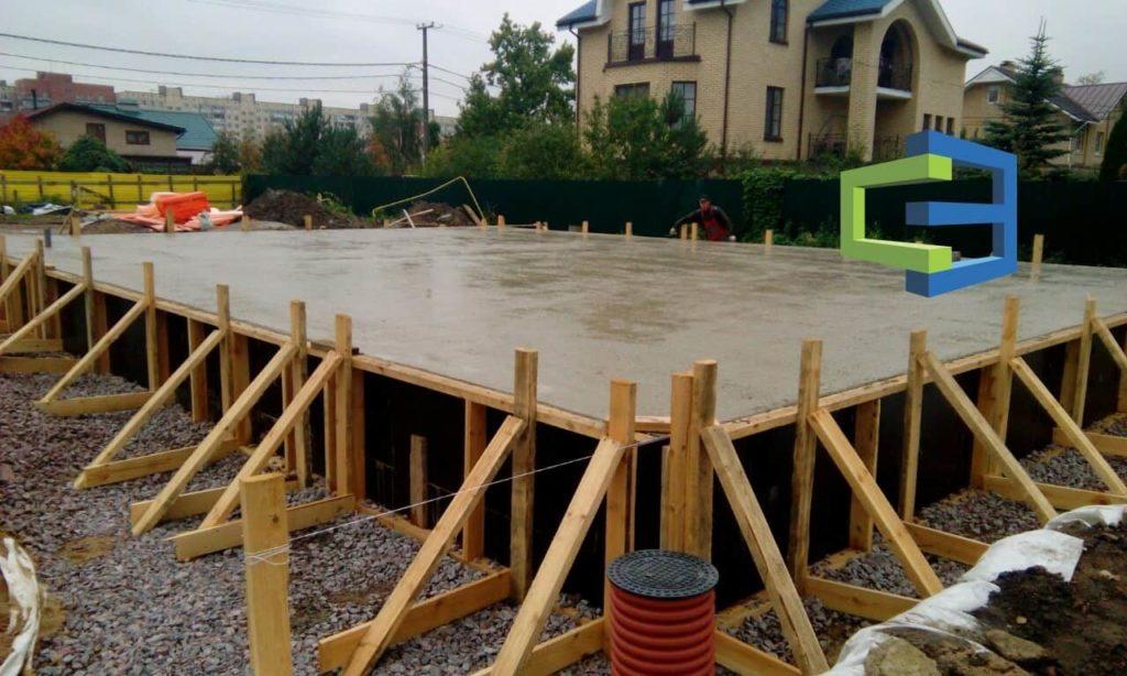 Строительство фундамента монолитная плита под ключ спб